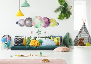 Sticker Planeten und Sterne im Kinderzimmer
