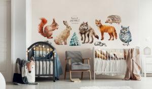 Sticker Waldtiere im Babyzimmer