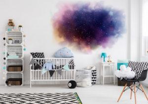 Sticker Weltall und Nebel im Kinderzimmer